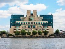 British Secret Service in London (hdr). LONDON, UK - CIRCA JUNE 2017: SIS MI6 headquarters of British Secret Intelligence Service at Vauxhall Cross London (high Royalty Free Stock Photography
