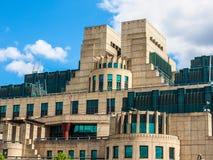 British Secret Service in London, hdr. LONDON, UK - CIRCA JUNE 2017: SIS MI6 headquarters of British Secret Intelligence Service at Vauxhall Cross London, high Stock Photos
