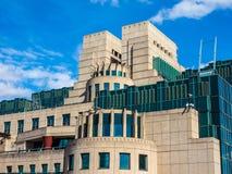 British Secret Service in London, hdr. LONDON, UK - CIRCA JUNE 2017: SIS MI6 headquarters of British Secret Intelligence Service at Vauxhall Cross London, high Royalty Free Stock Images