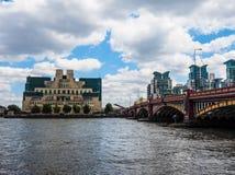British Secret Service in London, hdr. LONDON, UK - CIRCA JUNE 2017: SIS MI6 headquarters of British Secret Intelligence Service at Vauxhall Cross London, high Royalty Free Stock Photos