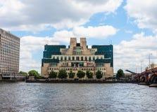 British Secret Service in London, hdr. LONDON, UK - CIRCA JUNE 2017: SIS MI6 headquarters of British Secret Intelligence Service at Vauxhall Cross London, high Royalty Free Stock Photo
