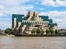 British Secret Service in London, hdr. LONDON, UK - CIRCA JUNE 2017: SIS MI6 headquarters of British Secret Intelligence Service at Vauxhall Cross London, high Stock Photography