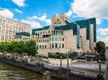 British Secret Service in London (hdr). LONDON, UK - CIRCA JUNE 2017: SIS MI6 headquarters of British Secret Intelligence Service at Vauxhall Cross London (high Stock Photo