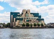 British Secret Service in London, hdr. LONDON, UK - CIRCA JUNE 2017: SIS MI6 headquarters of British Secret Intelligence Service at Vauxhall Cross London, high Royalty Free Stock Photography