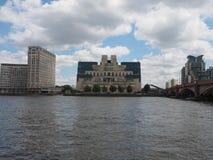 British Secret Service in London. LONDON, UK - CIRCA JUNE 2017: SIS MI6 headquarters of British Secret Intelligence Service at Vauxhall Cross London Stock Photos