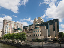 British Secret Service in London. LONDON, UK - CIRCA JUNE 2017: SIS MI6 headquarters of British Secret Intelligence Service at Vauxhall Cross London Stock Photo