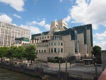 British Secret Service in London. LONDON, UK - CIRCA JUNE 2017: SIS MI6 headquarters of British Secret Intelligence Service at Vauxhall Cross London Royalty Free Stock Photography