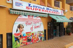 British shop in Spain Stock Photography