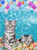 British shorthair cats with streamers Royalty Free Stock Photography