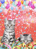 British shorthair cats with streamers Stock Image