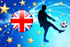 British Soccer Player on Abstract Light Background Stock Photo
