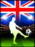 British Soccer Player in Stadium Match Royalty Free Stock Photos