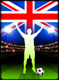 British Soccer Player in Stadium Match Royalty Free Stock Photo