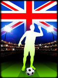 British Soccer Player in Stadium Match Royalty Free Stock Photography