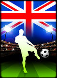 British Soccer Player in Stadium Match Royalty Free Stock Images