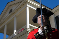 British Soldier. Man in British military dress at Revolutionary War Re-Enactment in Camden, South Carolina Stock Images