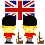 British Soldier and Flag. British soldier and british flag Royalty Free Stock Photography