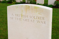 British soldier of the great world war one Royalty Free Stock Images
