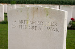 A British soldier of the great world war one. Stock Image