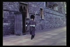 British soldier marching back and forth stock video