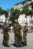 British soldiers, Gibraltar. Royalty Free Stock Images