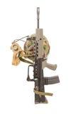 British soldiers machine gun Royalty Free Stock Images