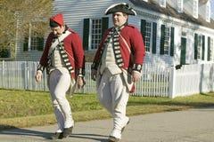 British soldiers walk Stock Photo