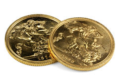 British Sovereign gold coins Royalty Free Stock Photo