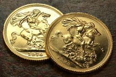 British gold coins Royalty Free Stock Photo