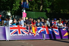 British and Spanish at the Paralympic marathon Stock Photo