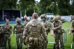 British Special Forces demonstration royalty free stock image
