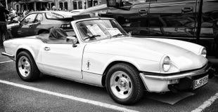 British sports car Triumpf Spitfire 1500 (black and white) Stock Photo