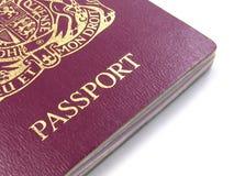 british stänger upp passet Royaltyfria Bilder
