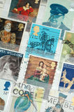 British Stamps. Selection of British stamps from the 1970's Royalty Free Stock Image