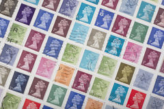 British Stamps Stock Images