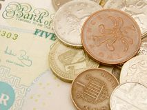 British Sterling pound currency Royalty Free Stock Photography