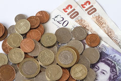 British Sterling Pounds. Stock Images