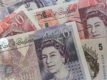 British Sterling Pounds. LONDON, UK - CIRCA JULY 2015: British Sterling Pound notes Stock Photos