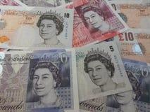 British Sterling Pounds. LONDON, UK - CIRCA JULY 2015: British Sterling Pound notes Stock Images
