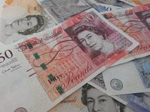 British Sterling Pounds Stock Photography