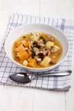 British stovies with potato, turnip, bacon and parley Stock Image