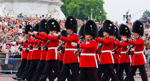 british strażnika honor królewski Fotografia Royalty Free
