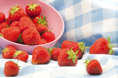 British Strawberries Royalty Free Stock Photos