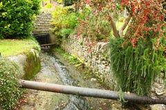 British stream and house style scenic. British stream and house atmosphere represent the british urban scenic Royalty Free Stock Photo