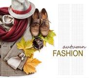 British style costume still life background Stock Image