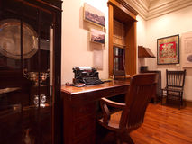 British style old office. Models of British style old office in Hong Kong Heritage Museum royalty free stock photo