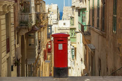 A British style postbox in Valletta,Malta Stock Photography