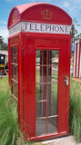 British style retro phone booth. Royalty Free Stock Photos