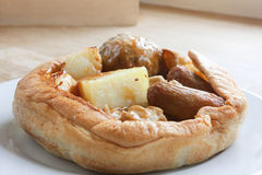 British style yorkshire pudding Stock Photos