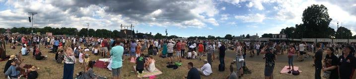 British Summer Time concert, London. Panorama of the audience at the British Summer Time concert, in Hyde Park, London Stock Photos